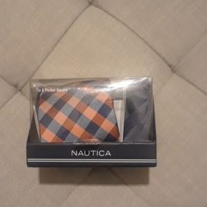 NAUTICA TIE AND POCKET SQUARE